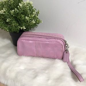 Coach signatures Women's Wristlet color purple